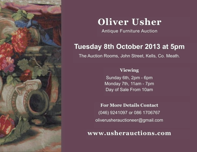 Next Auction – Tuesday 8th October at 5pm